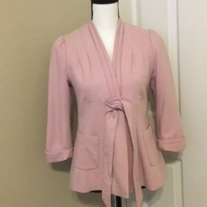 TED BAKER LONDON Pink Wool Cashmere Blend Jacket